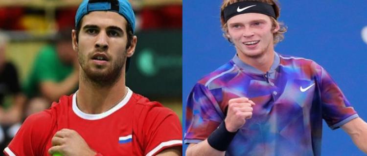 Стали известны соперники Хачанова и Рублёва на турнире в Цинциннати