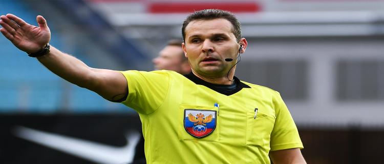 Арбитр Евгений Турбин отстранён на два матча РПЛ