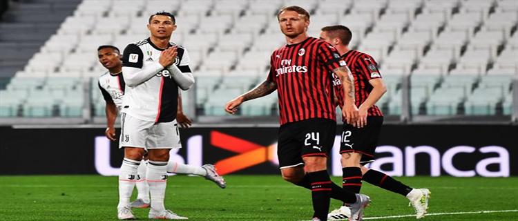 «Милан» одержал разгромную победу над «Ювентусом»