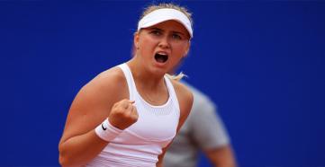 Анастасия Потапова вышла в 1/4 финала турнира в Бирмингеме